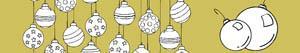 Colorear Bolas de Navidad