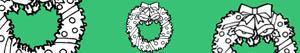 Colorear Coronas y guirnaldas navideñas