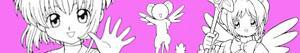 Colorear Sakura, la cazadora de cartas o Sakura Card Captors