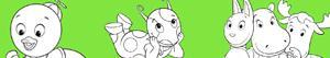 Juegos de personajes de dibujos para colorear imprimir y for Amiguitos del jardin