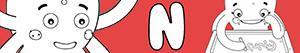 Colorear Nombres de Niña con N