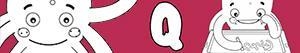 Colorear Nombres de Niño con Q