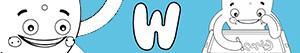 Colorear Nombres de Niño con W